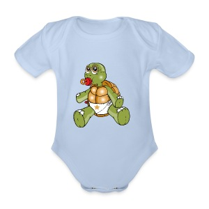 TURTLE TODDLER - Organic Short-sleeved Baby Bodysuit