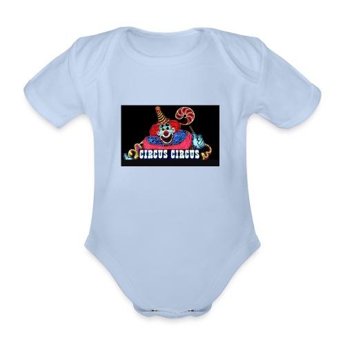CLOWN - Body ecologico per neonato a manica corta