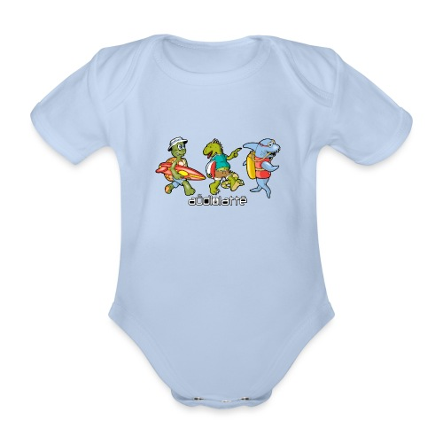 BEACH BUDDIES - Organic Short-sleeved Baby Bodysuit