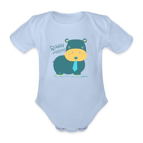 Baby hippo - Body orgánico de maga corta para bebé