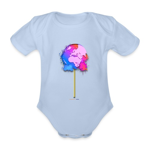 TShirt lollipop world - Body Bébé bio manches courtes