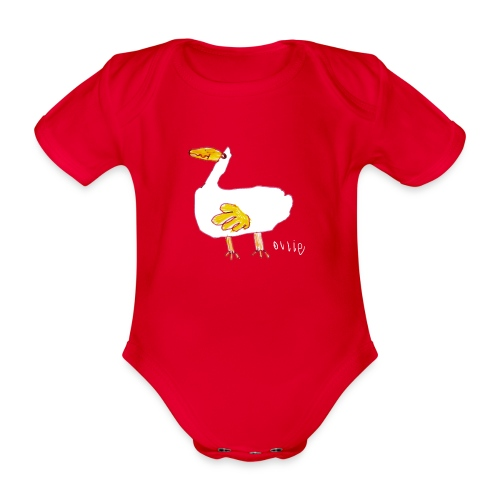 Ollie's Duck - Organic Short-sleeved Baby Bodysuit