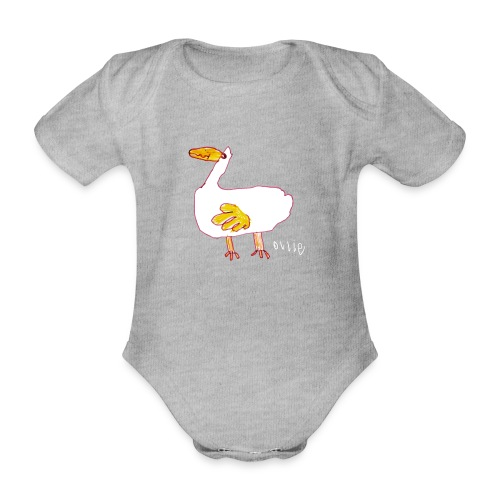 Ollie's Duck - Organic Short-sleeved Baby Bodysuit