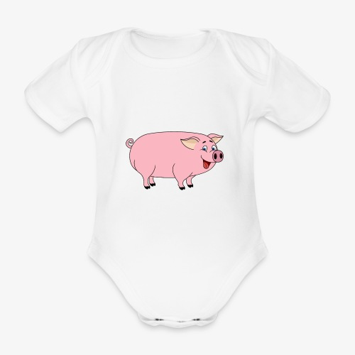 Gris - Økologisk kortermet baby-body