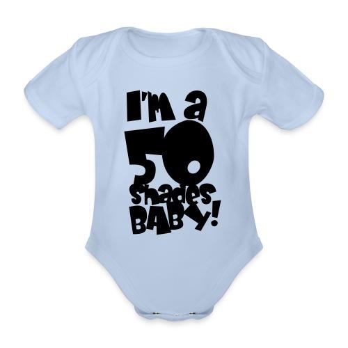 50 shades - Organic Short-sleeved Baby Bodysuit