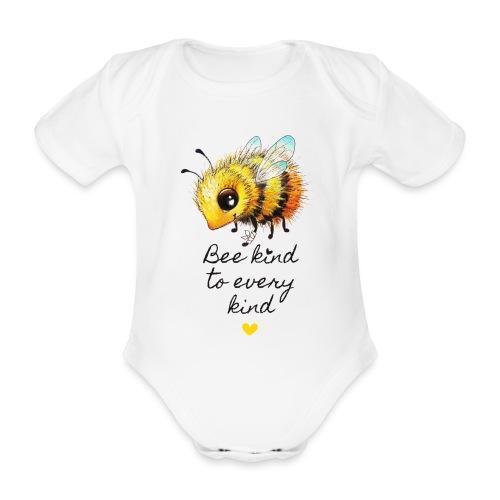 Bee kind - Organic Short-sleeved Baby Bodysuit