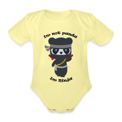 Non sono un Panda - Body ecologico per neonato a manica corta