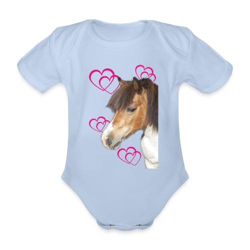 Hästälskare (Bella) - Ekologisk kortärmad babybody