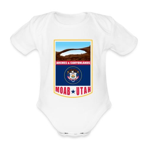 Utah - Moab, Arches & Canyonlands - Organic Short-sleeved Baby Bodysuit