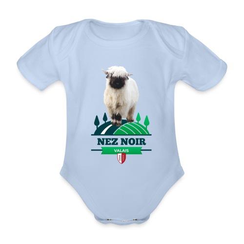 Mouton du Valais - Nez noir - Baby Bio-Kurzarm-Body