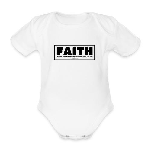 Faith - Faith, hope, and love - Organic Short-sleeved Baby Bodysuit