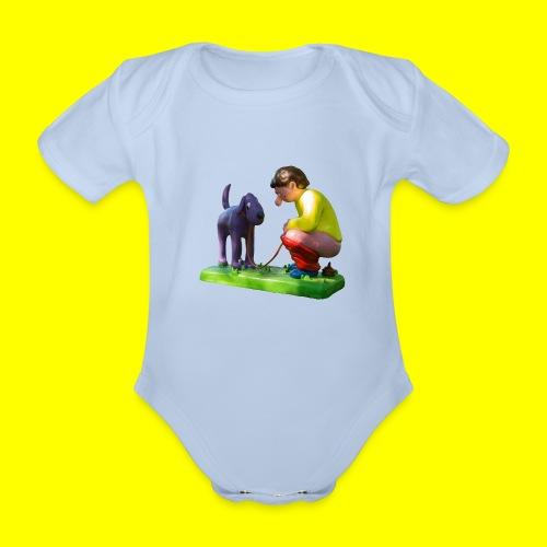 Mannetje Poep vrijstaand - Baby bio-rompertje met korte mouwen