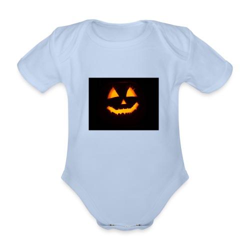 Halloween Kürbis Gesicht - Baby Bio-Kurzarm-Body