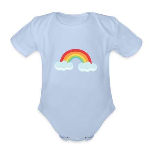 Rainbow product range - Organic Short-sleeved Baby Bodysuit
