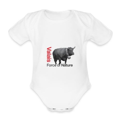 Naturgewalt - Kuh von Hérens Wallis - Baby Bio-Kurzarm-Body