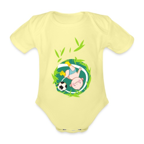 Umstandsmode T-Shirt mit Motiv / Fussball - Baby Bio-Kurzarm-Body