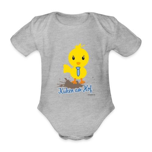 Küken am Hof, Design für Jungen - Baby Bio-Kurzarm-Body