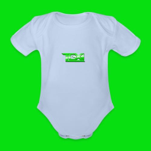 TGX Logo - Organic Short-sleeved Baby Bodysuit