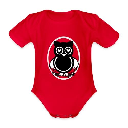 Eule Lilli - Baby Bio-Kurzarm-Body
