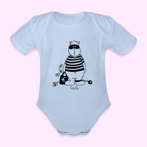 RäuBär schwarz Taschen & Rucksäcke - Baby Bio-Kurzarm-Body