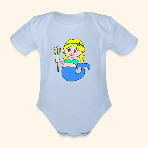 little mermaid blonde - Organic Short-sleeved Baby Bodysuit