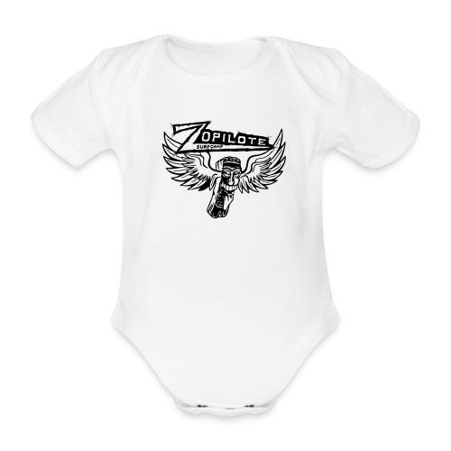 zopilote merch logo - Organic Short-sleeved Baby Bodysuit
