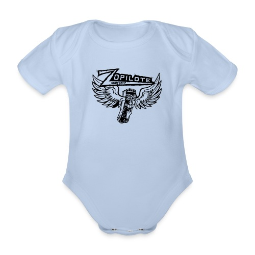 zopilote merch logo - Organic Short-sleeved Baby Bodysuit