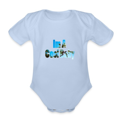 Ima_cool_Baby - Organic Short-sleeved Baby Bodysuit