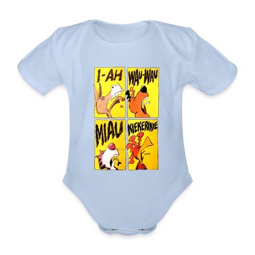 Bremer Stadtmusikanten Comic - Baby Bio-Kurzarm-Body