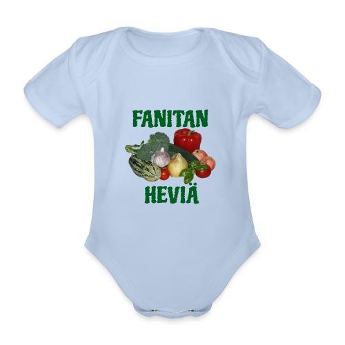 Fanitan heviä - Vauvan lyhythihainen luomu-body