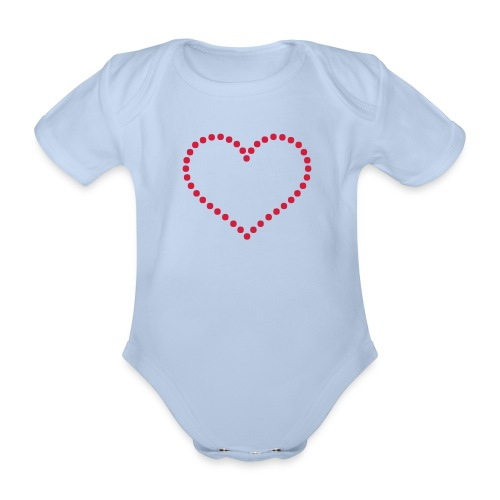 Lovely heart design - Baby bio-rompertje met korte mouwen