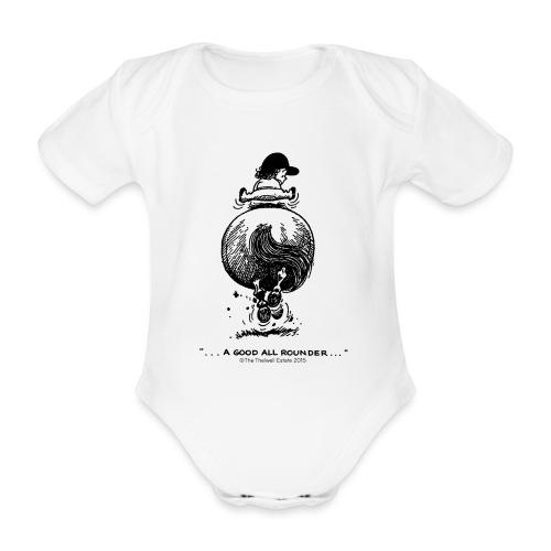 Thelwell Cartoon Pony Galopp - Baby Bio-Kurzarm-Body