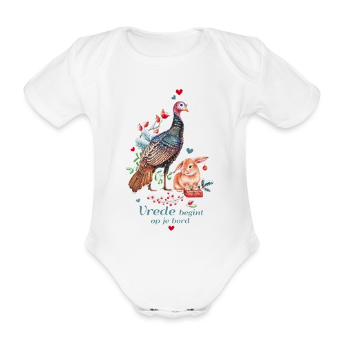 Peace begins on your plate - Organic Short-sleeved Baby Bodysuit