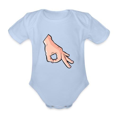 The Circle Game Ok Emoji Meme - Organic Short-sleeved Baby Bodysuit