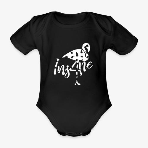 Ins4ne Flamingo Pois - Body ecologico per neonato a manica corta