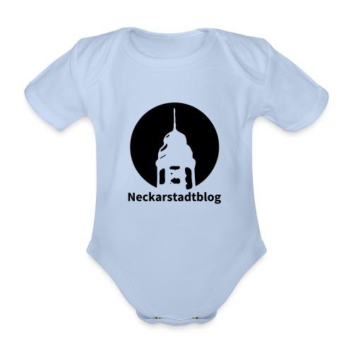 Logo mit Schriftzug invertiert - Baby Bio-Kurzarm-Body