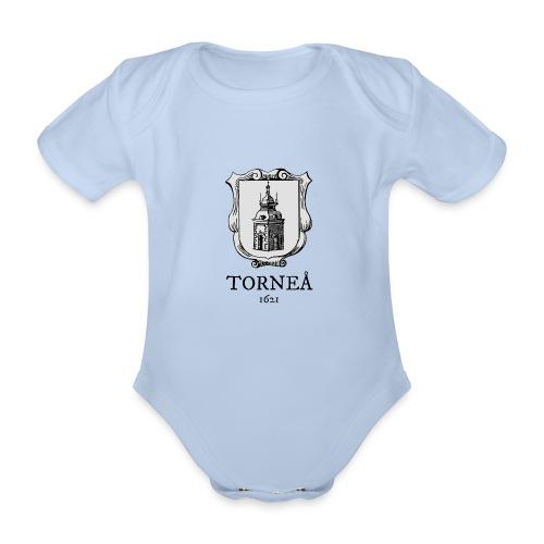 Tornea 1621 harmaa - Vauvan lyhythihainen luomu-body