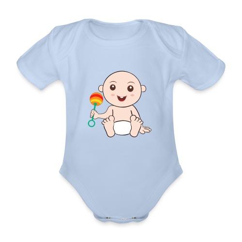 Glückliches Baby - Baby Bio-Kurzarm-Body
