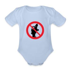 Jylland forbudt - Børnekollektion - Kortærmet babybody, økologisk bomuld