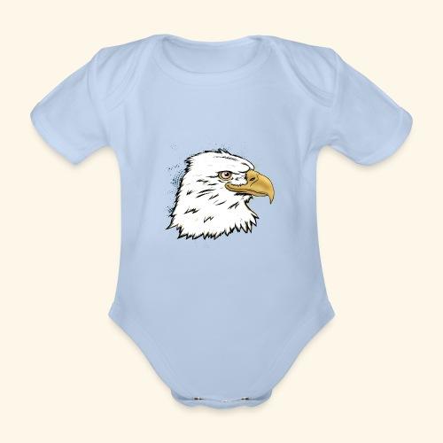 Aguila Emperador Kutuxa - Body orgánico de maga corta para bebé