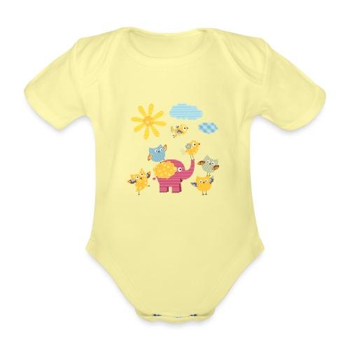 Secret Garden - Organic Short-sleeved Baby Bodysuit