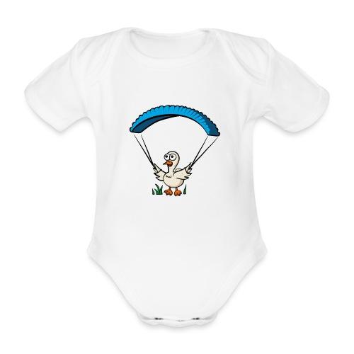Groundhendl Groundhandling Hendl Paragliding Huhn - Baby Bio-Kurzarm-Body