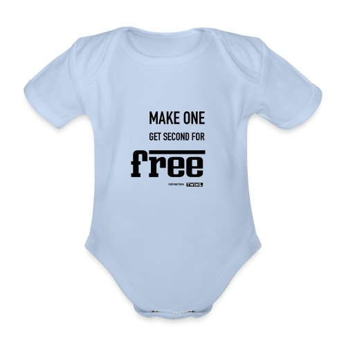 TWINS. make one get second for free - Baby Bio-Kurzarm-Body