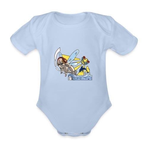 Sunshine buzz - Baby bio-rompertje met korte mouwen