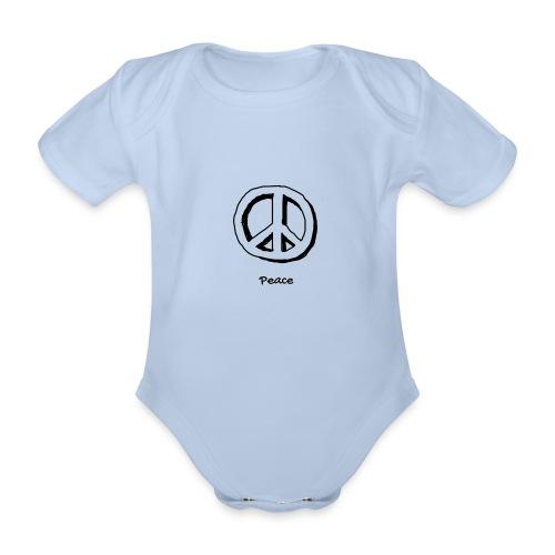 Peace - Organic Short-sleeved Baby Bodysuit