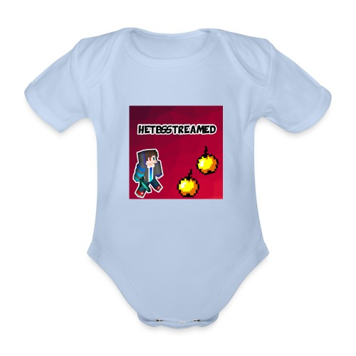Logo kleding - Baby bio-rompertje met korte mouwen