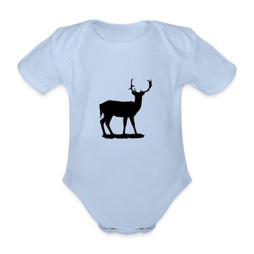 Silueta ciervo en negro - Body orgánico de manga corta para bebé