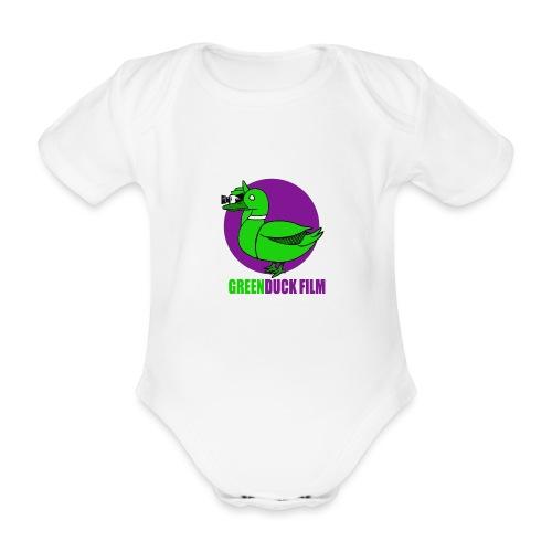 Greenduck Film Purple Sun Logo - Kortærmet babybody, økologisk bomuld