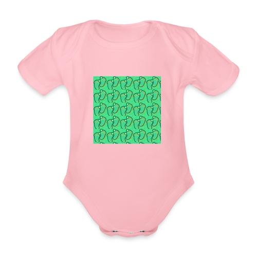 kidfootprint a7 - Organic Short-sleeved Baby Bodysuit