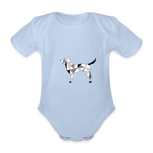 Hund illustriert - Baby Bio-Kurzarm-Body